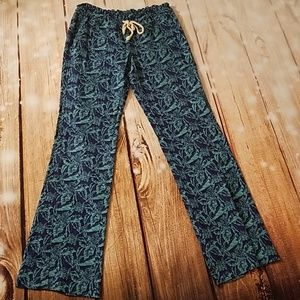 Roxy Drawstring Oceanside Linen Lounge Pants- Lg
